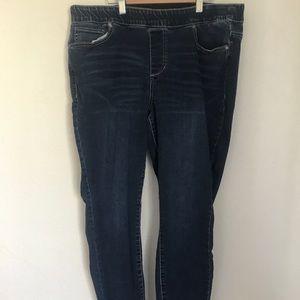 Maurices 16W skinny leggings denim